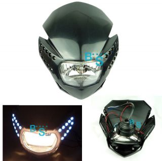 Dirt Bike Universal Head Light Suzuki Dr DRZ RM 650 200 250 125 400 80