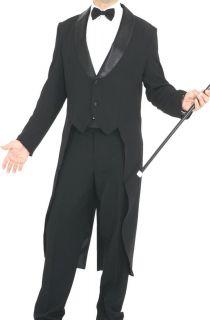 Giacca FRAC Uomo Elegante Party Presentatore Musical Nero Con Rever