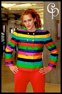Bill Blass Women Life Savers Memphis Dress Jacket Coat Sz 6