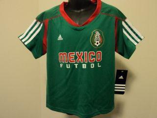 Adidas Mexico Futbol Football Soccer Little Kids Home Call Up Jersey M