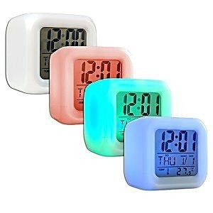 Color Changing LED Light Alarm Clock Mood Desk Top Lamp