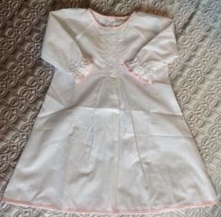 Pixie Lily White with Pink Knit Daygown Baby Girl 6 9 Months