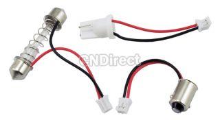 White12 LED 3528SMD Interior Dome Car Light Lamp Bulb 3 Adapter ESY1