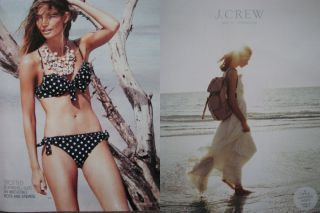 Crew May 2010 Catalog Lily Aldridge Mona Johannesson Shannan Click