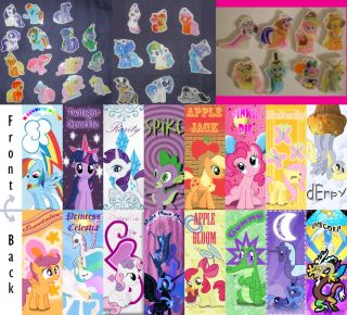 My Little Pony Friendship Is Magic Thick Plastic Glass Like Charms w