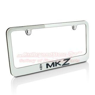 Lincoln MKZ Chrome Brass Auto License Plate Frame, Lifetime Warranty