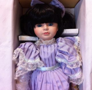 Collection Doll Seymour Mann Lila Hand Crafted Painted Porelain