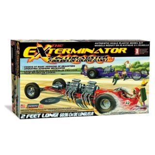 Lindberg 1 8 Exterminator Dragster Model Kit Racing Car