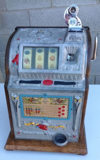 1922 Mills Liberty Bell Owl 5 Cent Slot Machine
