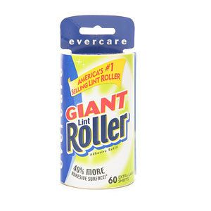 Evercare Giant Lint Roller 60 Extra Large Sheets Refill 1 Ea