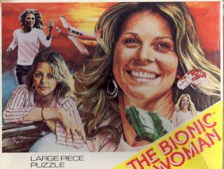 Bionic Woman Lindsay Wagner RARE UK Puzzle 1976 Whitman