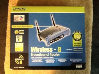 Linksys Wireless G WRT5G Broad Band Router 2 4Ghz 802 11g Cable DSL