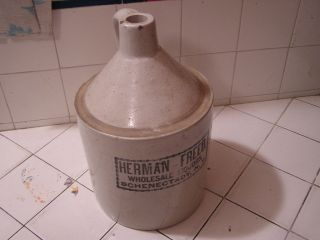 Vintage Herman Freed Pottery Jug Wholesale Liquors New York NY