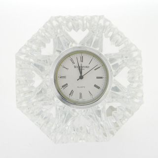 Classic Waterford Crystal Lismore Diamond Clock Paperweight