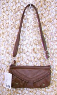 ECOTE Womens Nice Little Brown Purse Hip Bag Belt Whipstitch Pouch NEW
