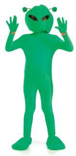 Kids Little Green Alien Age 8 9 10 Boys Girls Halloween Fancy Dress
