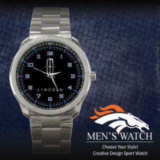 New Lincoln Fob MKS MKT MKX MKZ Navigator Sport Metal Watch