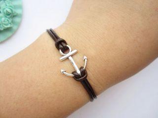 Bracelet Antique Silver Little Anchor Alloy Symbol Bown Bracelet