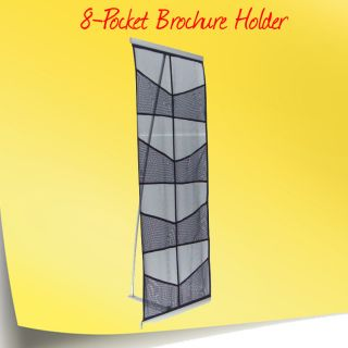 Pocket Brochure Holder Literature Rack Easy Setup