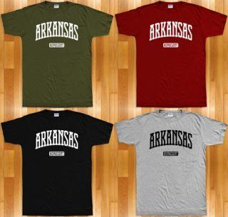 Arkansas REPRESENT T Shirt Little Rock Fayetteville Razorbacks Ozarks