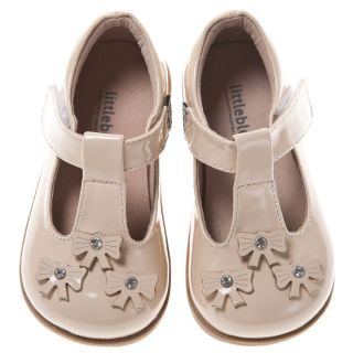 Little Blue Lamb Cream Leather Dress Shoes Toddler Girl 6 to 10 New in