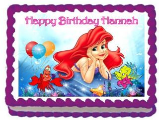 The Little Mermaid Edible Image Frosting Cake Topper Decoration