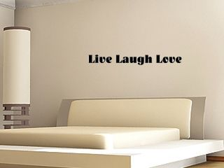 32 Live Laugh Love Lettering Vinyl Decal Sticker Home Wall Art Quote