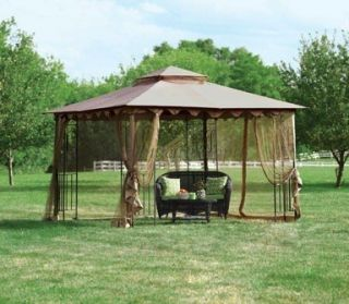 Living Accents Gazebo with Mosquito Netting 10x10 Weatherproof New