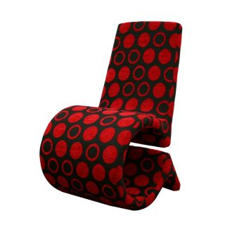 Black Chair Patterned Fabric Accent Chair Living Room Furniture
