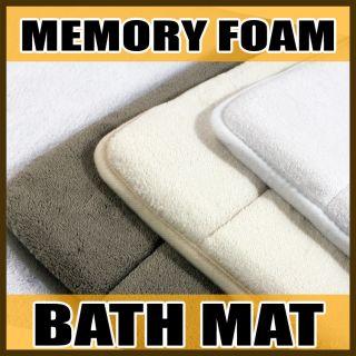 Absorbent Memory Foam Bathroom Bath Mat Rug Slip Resistant