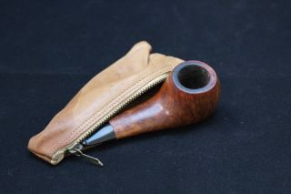 Lloyd Compact Century Old Briar Tobacco Pipe from Italy w/ Leather