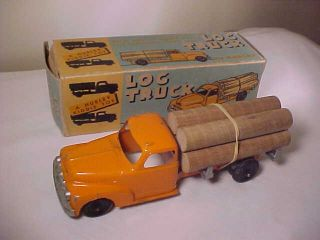 Hubley Toy Log Truck 469 Original Box 10 Inch