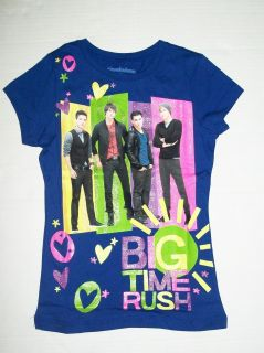 Time Rush Blue T Shirt Sz 7 8 M Carlos James Logan Kendall BTR