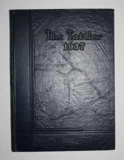 1937 Tattler   Logansport Indiana High School Year Book   Great for