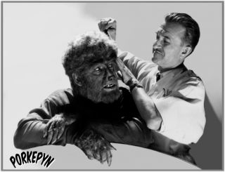Jack Pierce Lon Chaney Jr Wolfman Off Camera 2
