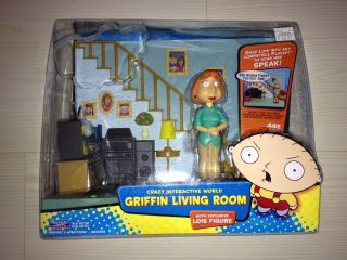 FAMILY GUY SERIES 1 TALKING LOIS GRIFFIN LIVING ROOM FIGURE SET