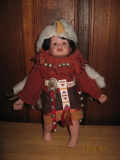 Native American Indian Little Eagle Dancer Porcelain Doll 1995