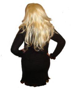 MirageLola Elegant Sexy Cool Woman Black Short Dress Size L XL 2XL