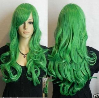 Hot Sell New Long Cosplay Green Straight Wig