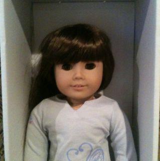 American Girl Doll Long Brown Hair Bangs Brown Eyes Beautiful
