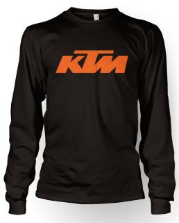 KTM Racing T Shirt Tee Shirt Long Sleeve Longsleeve Black