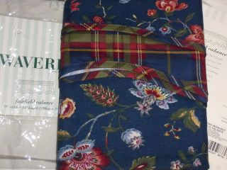 Waverly Longford Midnight Blue Floral Fairfield Valance New in Pkg