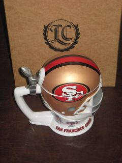 LONGTON CROWN SAN FRANCISCO 49ERS FOOTBALL HELMET STEIN SUPER BOWL NEW