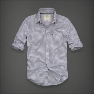 Abercrombie Fitch Lookout Mountain Mens Classic Dress Shirt New