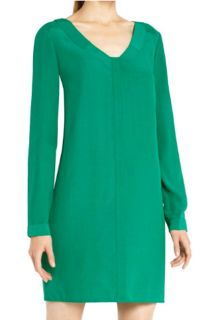 198 BCBG Ultra Green Levin Long Sleeve Dress XXS