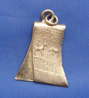 Vintage Mexico Mexican Sterling Silver Serape Blanket Charm