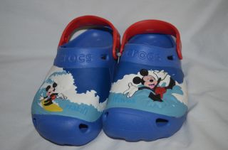Mickey Mouse Crocs Clogs Wave Childrens Youth Size 1 Boys Girls Disney