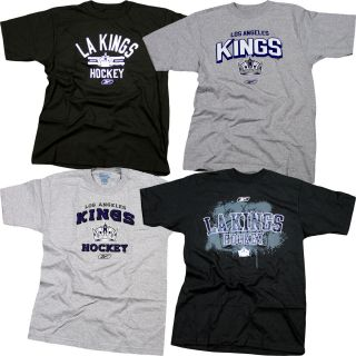 NHL Los Angeles Kings Reebok T Shirts Over 5 Styles Sizes s 2XL