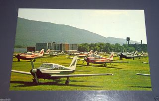 Lock Haven PA Piper Aircraft Plant Pennsylvania Chrome Postcard RARE