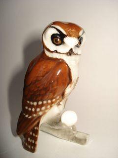 Lorentz HUTSCHENREUTHER Kunstabteilung porcelain Owl Bird Figurine